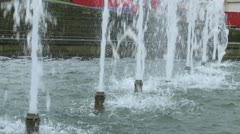 Fountain Spurts Stock Footage