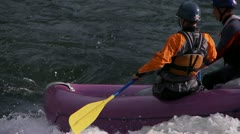 river rafting - stock footage