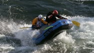 River rafting Stock Footage
