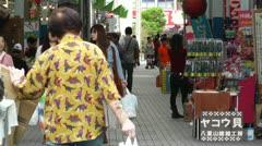 Rural Japanese Market in Okinawa Islands 12 Stock Footage
