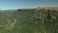 Aerial of Umtumvuna Gorge in KwaZulu-Natal, South Africa. Stock Footage