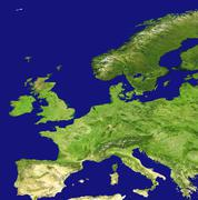 Europe, satellite image Stock Photos