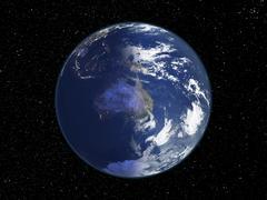 Stock Photo of australia, night-day satellite image