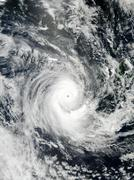 tropical cyclone erica - stock photo