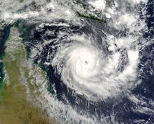 Tropical cyclone ingrid Stock Photos