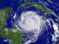 hurricane dean, 20 august 2007 - stock photo