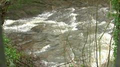 Horizonatl Waterfall Stock Footage