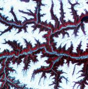Eastern himalayas, satellite image Stock Photos