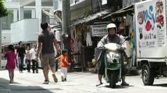 Rural Town in Okinawa Islands 26 street Stock Footage