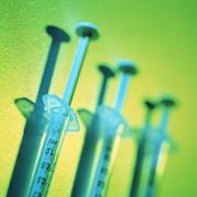 medical syringes - stock photo