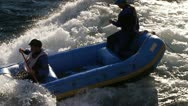 Stock Video Footage of river rafting