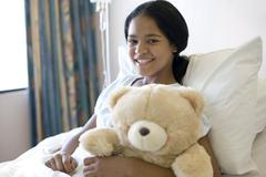 teenage hospital patient - stock photo