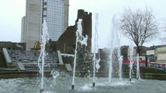 Castle and Fountain Stock Footage