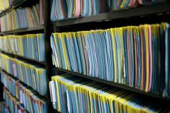 Stock Photo of medical records