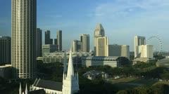 Singapore, T/L Raffles city Stock Footage
