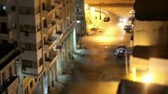 Havana cuba traffic night life Stock Footage