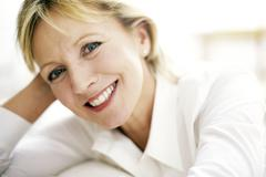 Smiling woman Stock Photos