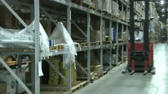 FORKLIFTS IN WAREHOUSE 4 - stock footage