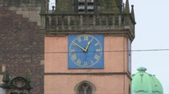 Medieval Clock Tower Stock Footage