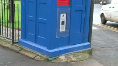 Blue Police Box Stock Footage