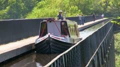 Pontcysyllte aqueduct, Wales Stock Footage