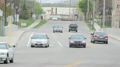 4-way Stop Traffic Stock Footage
