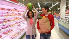 Cute shoppers - stock footage