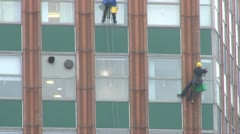 Office Block Window Cleaning Stock Footage