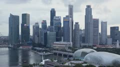 Singapore, T/L cityscape Stock Footage