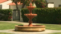 Decorative Spanish Fountain Stock Footage