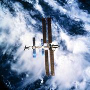 international space station - stock photo