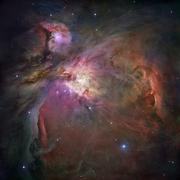 Orion nebula (m42 and m43) Stock Photos