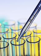 pipetting - stock photo