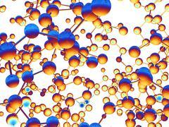Molecular structures, computer artwork Stock Illustration