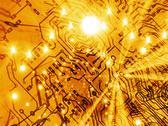 Printed circuit board, artwork Stock Illustration