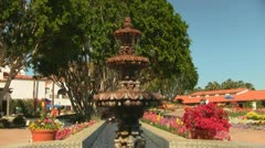 Fountain at La Quinta California Desert Resort Stock Footage