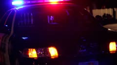 City Police Car at Night Stock Footage