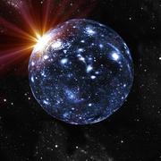 Spherical universe, artwork Stock Illustration