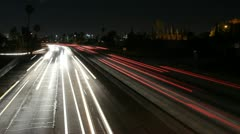 Stock Video Footage of Timelapse of Interstate 101 in Los Angeles