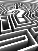 Maze, computer artwork Stock Illustration