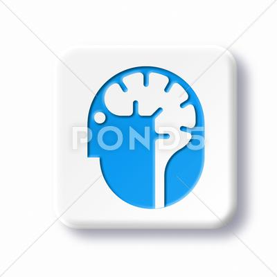 Stock Illustration of neurology symbol, artwork