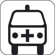 ambulance symbol, artwork - stock illustration