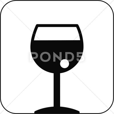 Stock Illustration of alcoholic drink symbol, artwork