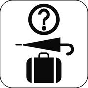 Lost property symbol, artwork Stock Illustration