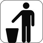 Litter bin symbol, artwork Stock Illustration