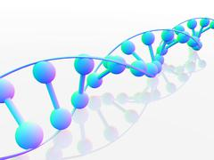 dna molecule, conceptual artwork - stock illustration