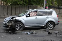 Crash at the suv Stock Photos