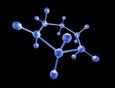 Molecular structure, artwork Stock Illustration