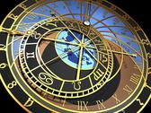 Stock Illustration of astronomical clock, artwork