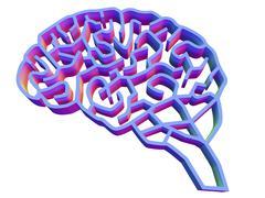 brain complexity, conceptual artwork - stock illustration